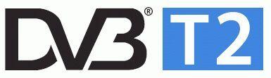 Логотип DVB T2, ищите на коробке с ресивером